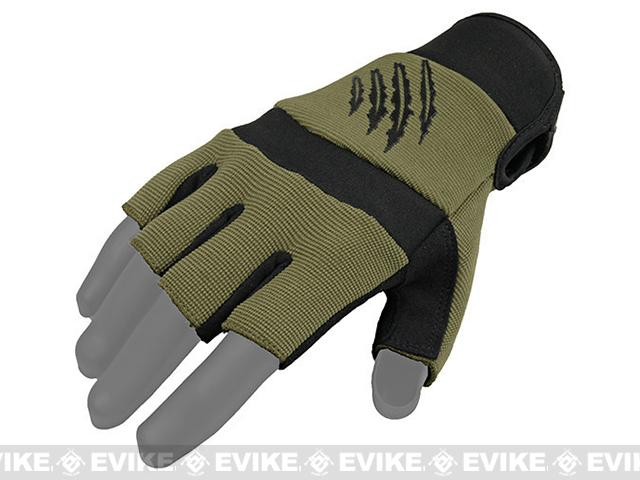 Armored Claw Shooters Cut Tactical Glove - OD Green (Size: X-Large)