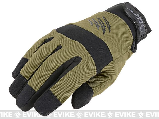 Armored Claw Cold Weather Tactical Glove (Color: OD Green / Medium)