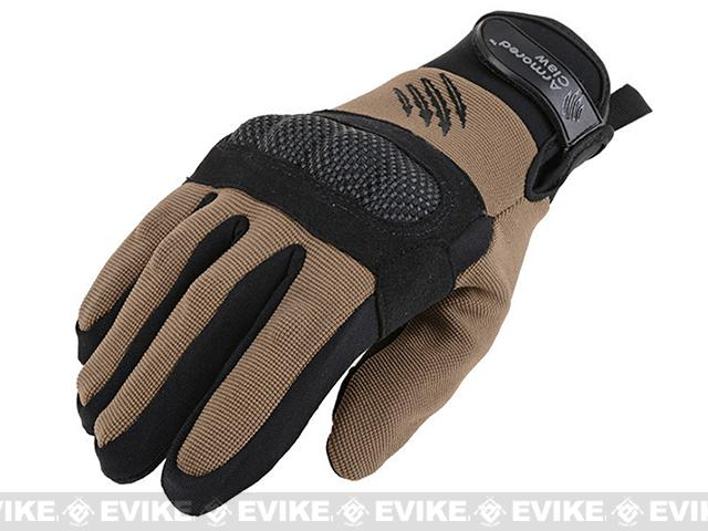 Armored Claw Shield Tactical Glove - Tan (Size: Small)