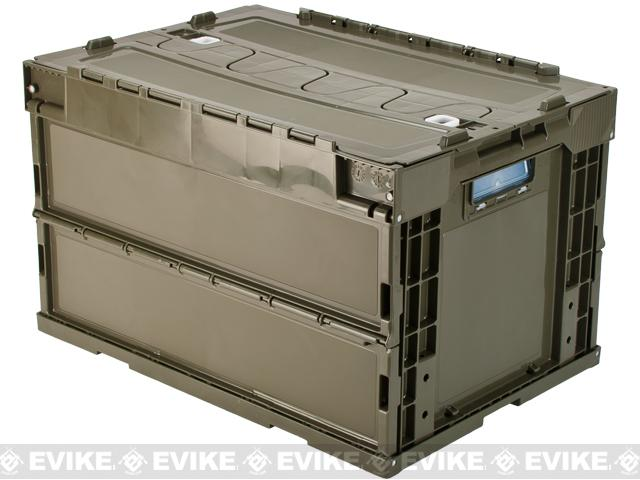 Laylax Tactical Folding Military Storage Box Container Olive Green