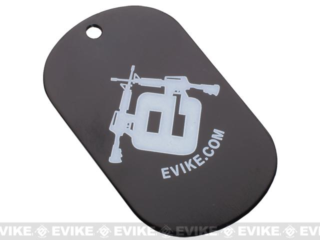 Evike.com Aluminum Dog Tag - Black