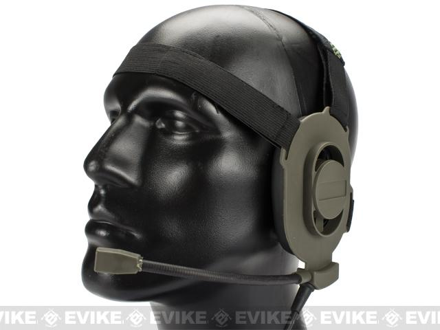 Matrix / Element Military Style Tactical Communications Headset Type-A (Color: FG Green)