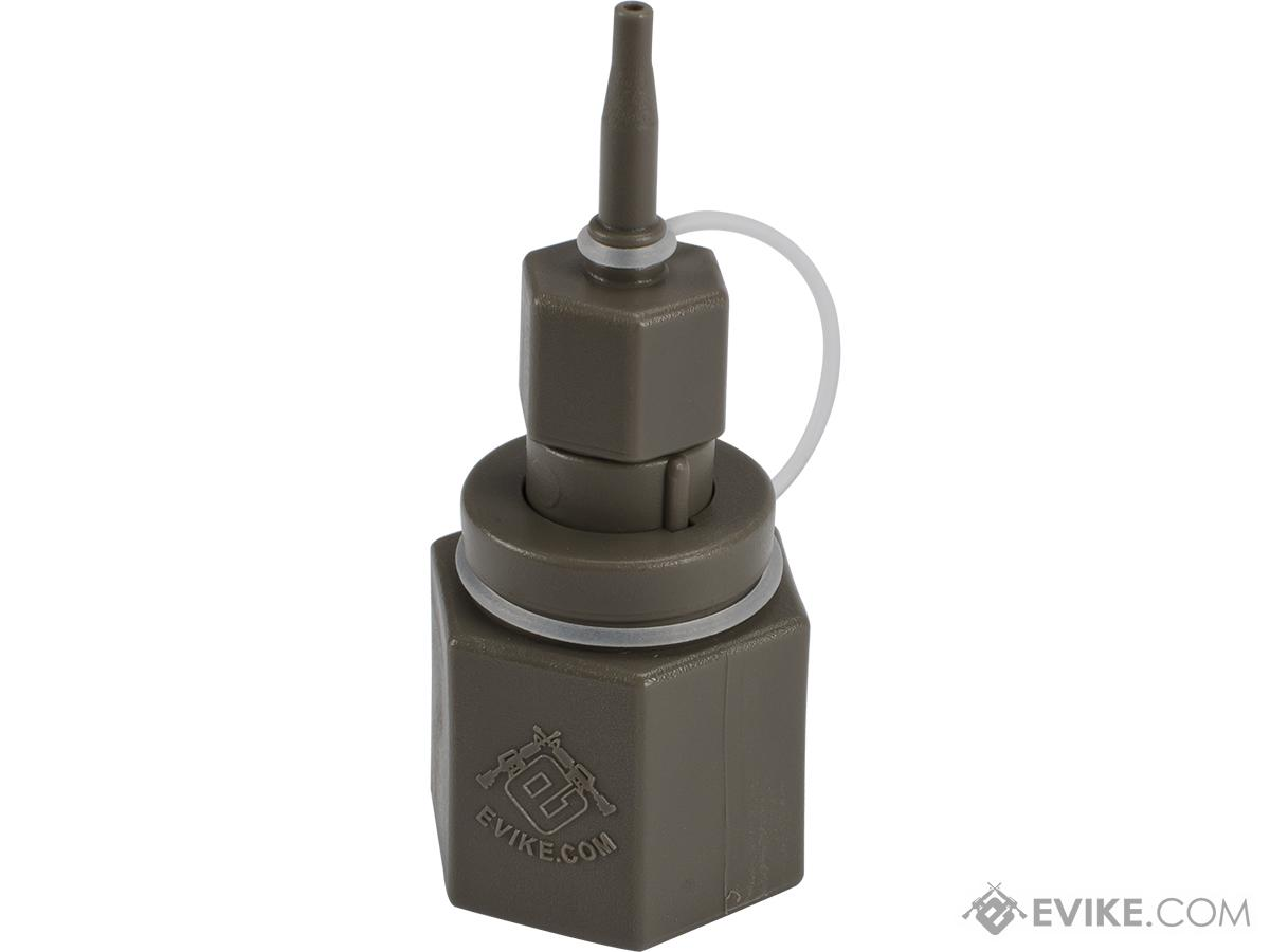 Airsoft Evike.com Polymer Propane Adapter w/ Integrated Silicone Port for Airsoft Gas Magazines