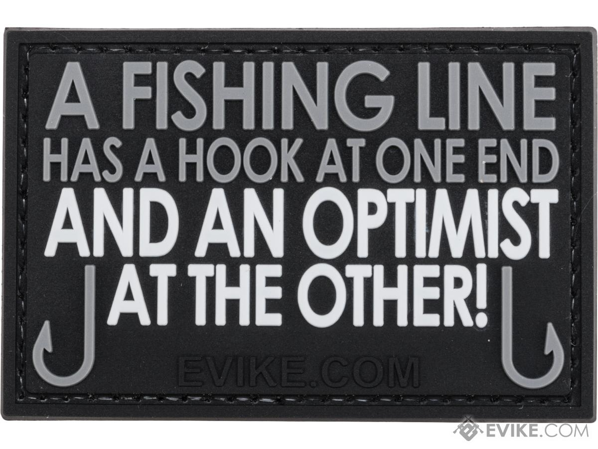 Evike.com A Fishing Line Has A Hook At One End... PVC  Morale Patch (Color: Gray)