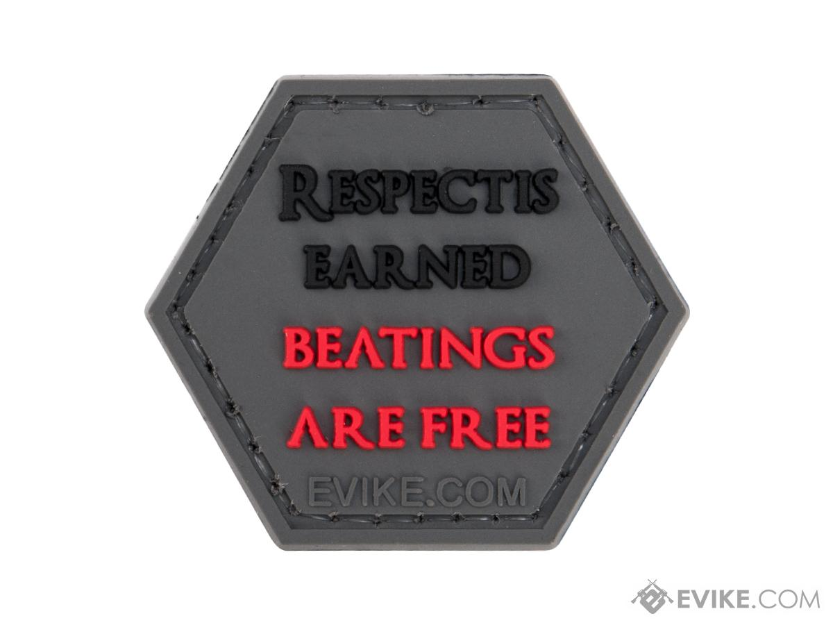 Operator Profile PVC Hex Patch Catchphrase Series 6 (Style: Respect Is Earned)