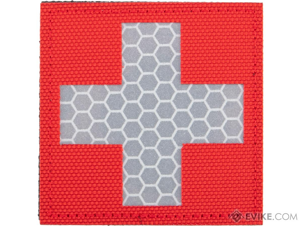 Matrix Reflective Medic Patch w/ Nylon Bordering (Color: Red / White)