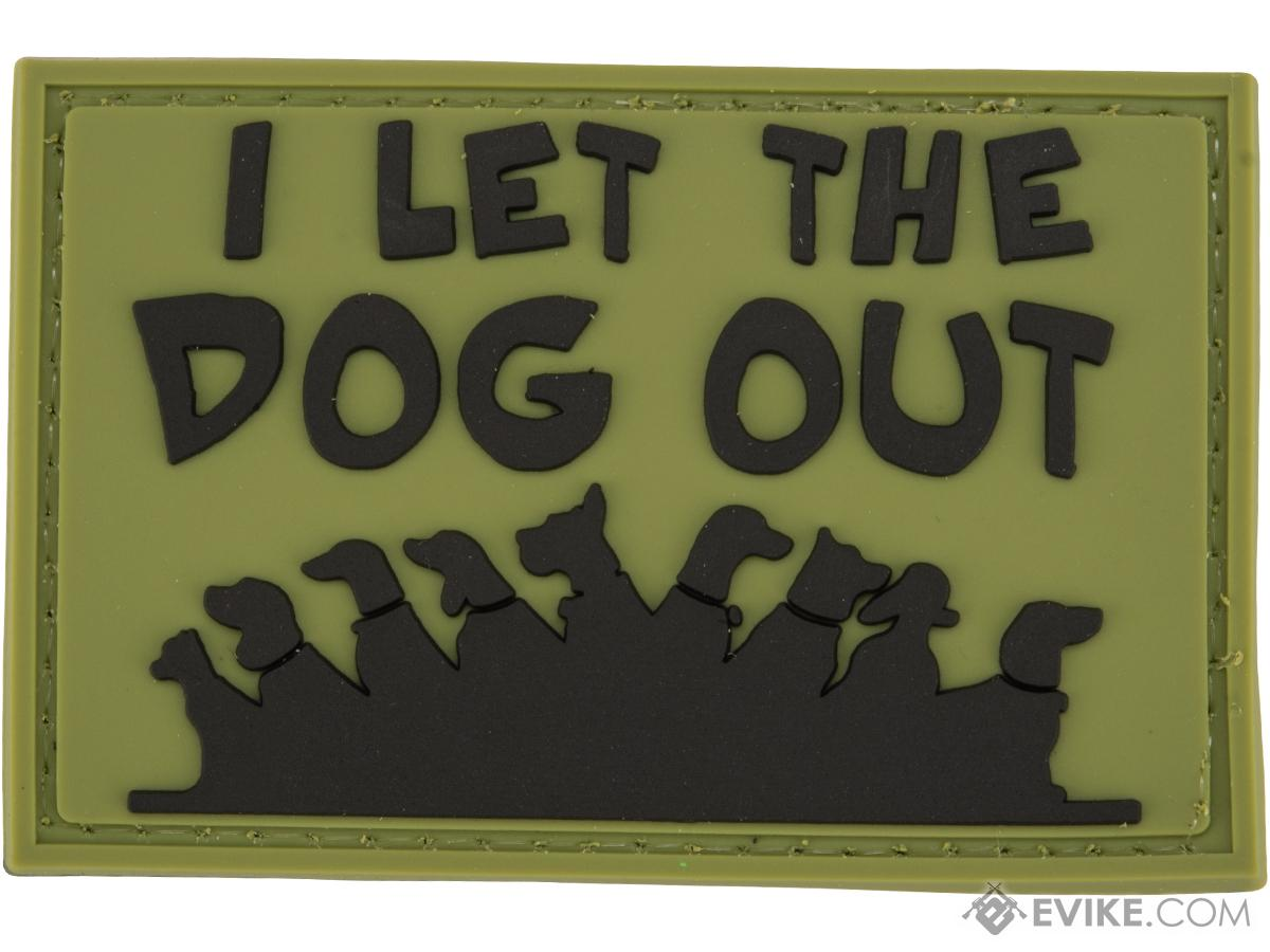 Evike.com PVC 2 x 3 Morale Patch - I Let the Dog Out