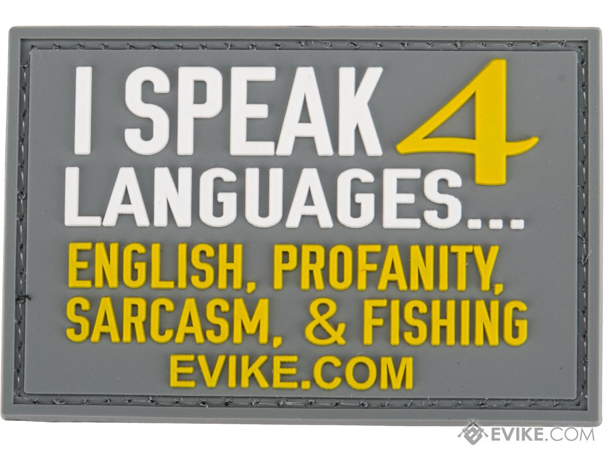 Evike.com I Speak 4 Languages PVC Morale Patch