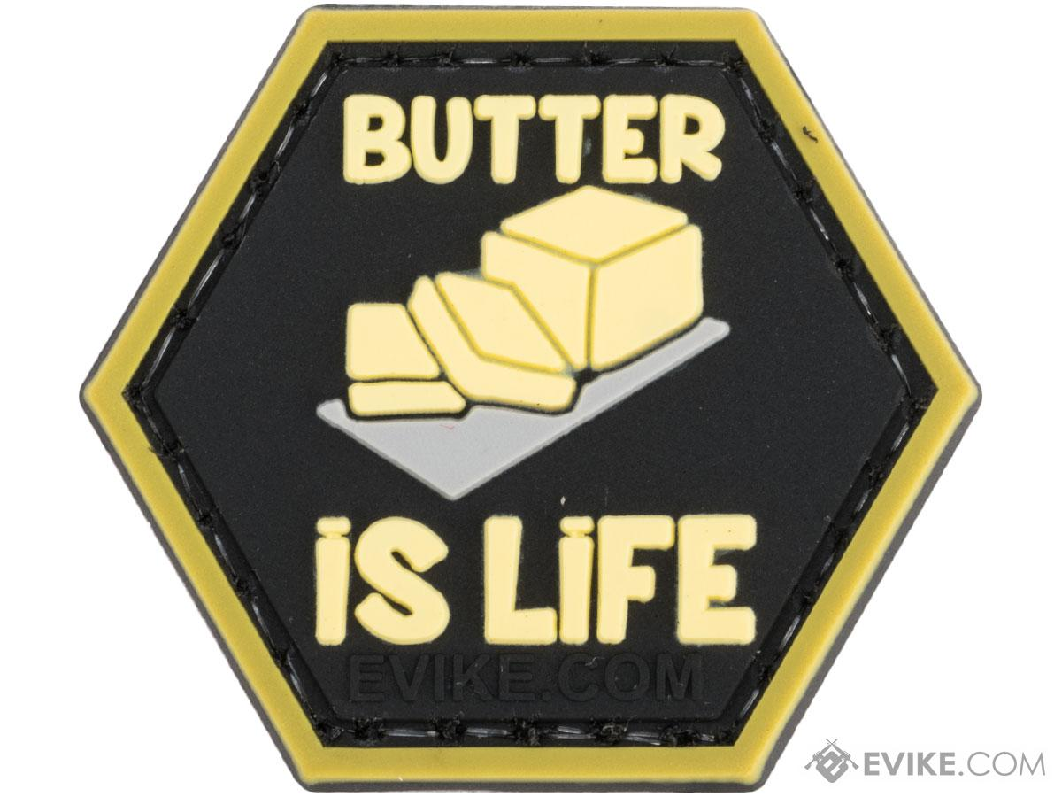 Operator Profile PVC Hex Patch Catchphrase Series (Style: Butter is Life)