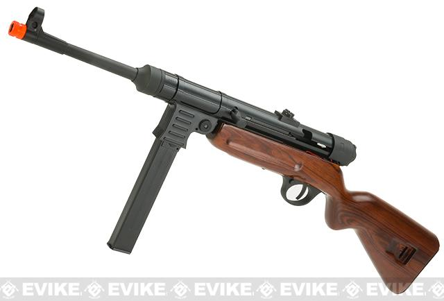 SRC MP-41 SR-41 Electric Blowback Airsoft AEG Rifle with Real Wood Stock