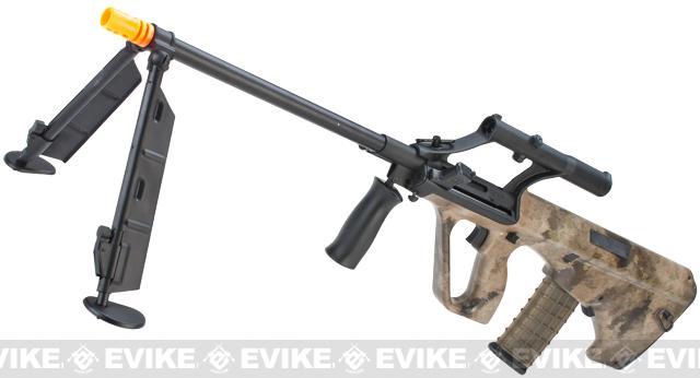 z Evike.com Custom AUG Alpha-H Sniper Airsoft AEG Rifle w/ Integrated Scope & Bipod - ATACS