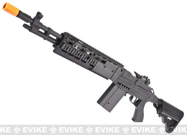 CYMA M14 RIS EBR (Evil Black Rifle) Custom Full Metal Airsoft AEG Sniper Rifle (Package: Gun Only / Black)