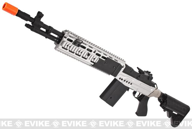 CYMA M14 RIS EBR (Evil Black Rifle) Custom Full Metal Airsoft AEG Sniper Rifle (Package: Dual Tone / Gun Only)