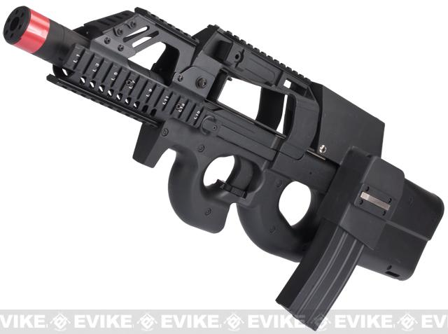 Evike.com Custom P90 Terminator Airsoft AEG w/ Box Mag (Color: Black)