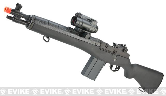 G&G M14 SOC16 Full Size Airsoft AEG Rifle - (Package: Add 8.4v 1600mAh Battery + Charger + BBs)
