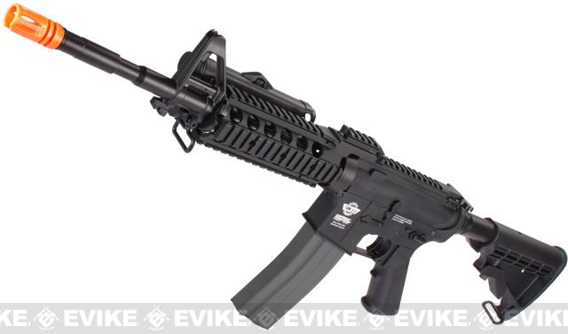 Evike Custom Class I G&G M4 Airsoft AEG Rifle - RASII Black (Package: Add 9.6 Butterfly Battery + Smart Charger)