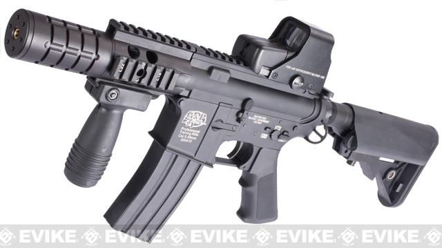 Evike Custom Class I G&P M4 Full Metal Airsoft AEG Rifle - Patriot (Package: Black / Add Battery + Charger)