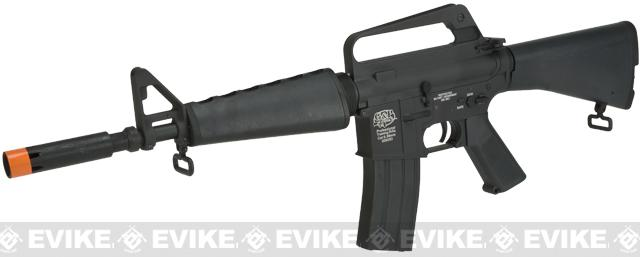 G&P CAR-15 Carbine Airsoft AEG Rifle with Retractable Stock (Package: Add Battery + Charger)