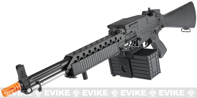 G&P Navy Mk23 Airsoft SAW Machine Gun AEG w/ Box Magazine (Package: Black / Add Battery + Charger)