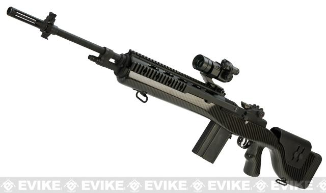 G&P M14 DMR Custom Airsoft AEG Sniper Rifle with Real Carbon Fiber (Package: Gun Only)