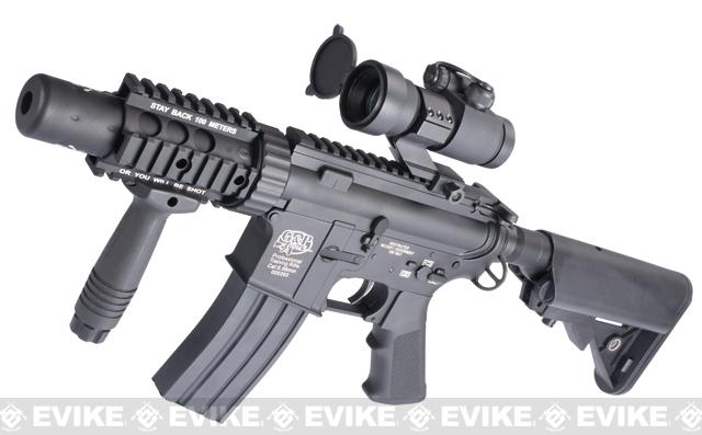 Evike Custom Class I G&P M4 Airsoft AEG Rifle - Stubby Killer (Package: Black / Add Battery + Charger)