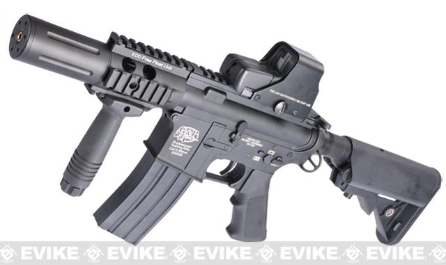 Evike Custom Class I G&P M4 Airsoft AEG Rifle - Fighting Cat (Package: Black / Add Battery + Charger)