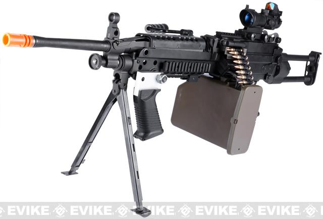 G&P M249 SAW Airsoft AEG Rifle with Collapsible Stock (Package: Ranger Version / Add Battery + Charger)