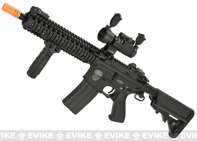 G&P Custom Defender M4 SBR Airsoft AEG Rifle - Black (Package: Add Battery + Charger)