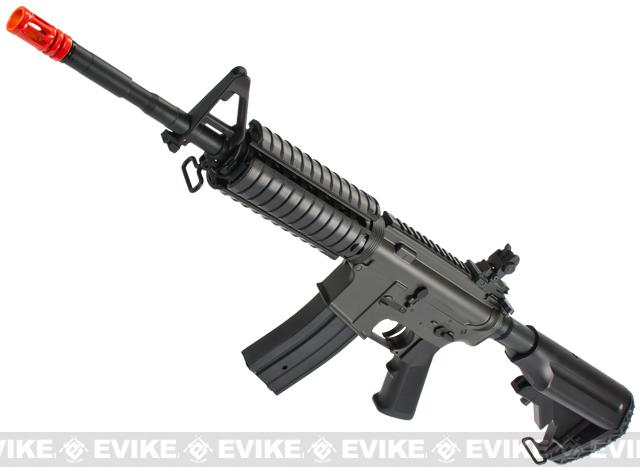 JG M4 RIS Airsoft AEG Rifle w/ Hurricane Type Crane Stock (Color: Black)