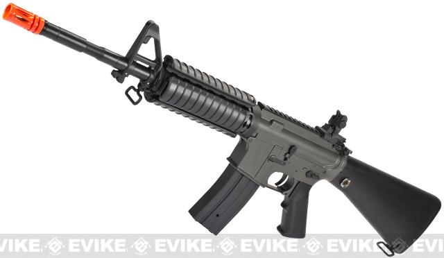 JG M4 SR-16 Enhanced Lipo Ready Airsoft AEG Rifle (Color: Black)