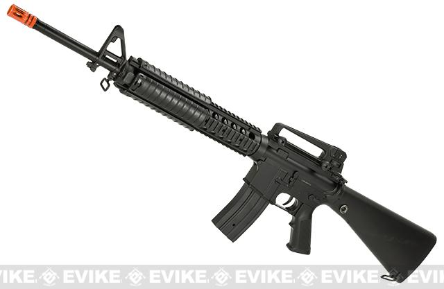 Full Size JG M16 w/ Full Length RIS Hand Guard (Color: Black)
