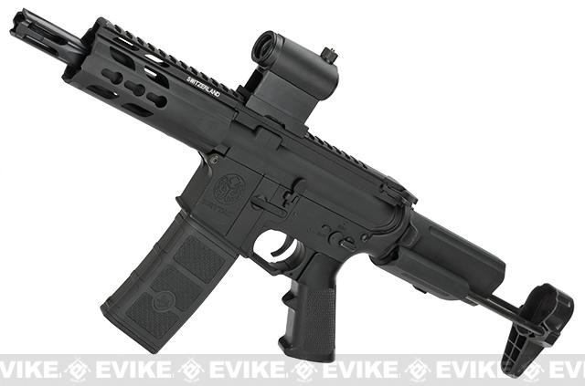z Krytac Full Metal Trident PDW Airsoft AEG Rifle - Black