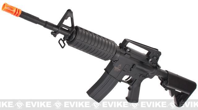 Lancer Tactical M4 Crane Airsoft AEG Rifle (Color: Black)