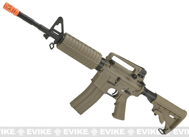 G&G Full Metal M4 Carbine Airsoft AEG Rifle w/ LE Stock - Tan (Package: Add 9.6 Butterfly Battery + Smart Charger)