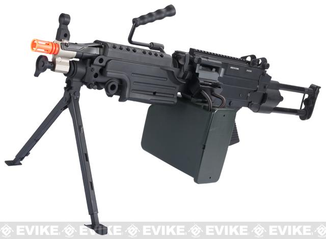 A&K Full Metal M249 Airsoft Machine Gun (Version: Para / Black / AEG)