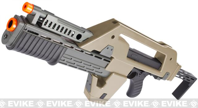 Matrix Limited Edition Custom Alien Pulse Rifle Airsoft AEG (Color: Tan)