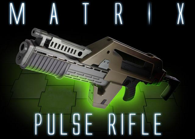 Matrix Limited Edition Custom Alien Pulse Rifle Airsoft AEG (Color: OD Green)