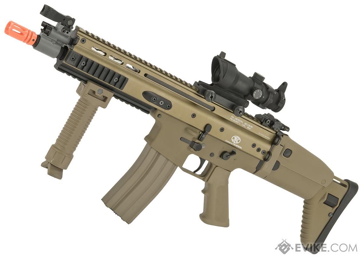 Pre-Order ETA August 2018 FN Herstal Licensed Full Metal SCAR CQB Airsoft AEG Rifle by G&G  (Package: Tan / Gun Only)