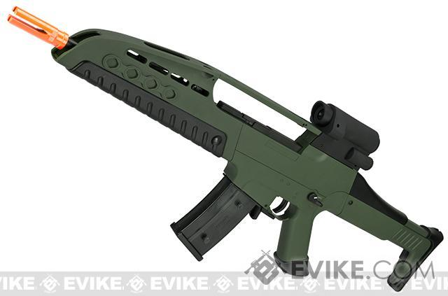 SRC SM8 Airsoft AEG Rifle w/ Two Hi-Cap Mags (Color: OD Green)