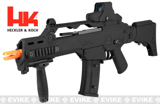 z H&K G36CV Carbine Airsoft Blowback AEG Rifle by ARES / Umarex - (Black)