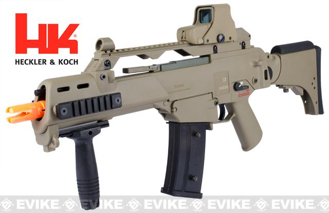 Bone Yard - H&K G36CV Airsoft Blowback AEG Rifle by ARES Umarex (Black or DE) (Store Display, Non-Working Or Refurbished Models)