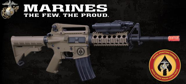 z USMC Licensed Limited Special Edition ER09 M4 MARSOC RIS Airsoft AEG Rifle