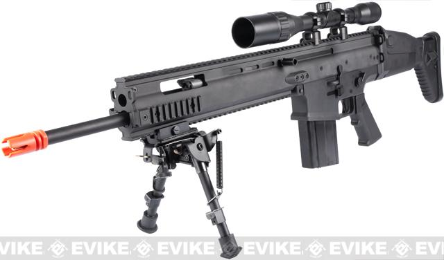 FN Herstal Full Metal SCAR Heavy Airsoft AEG Rifle by VFC (Model: MK17 SSR / Black)
