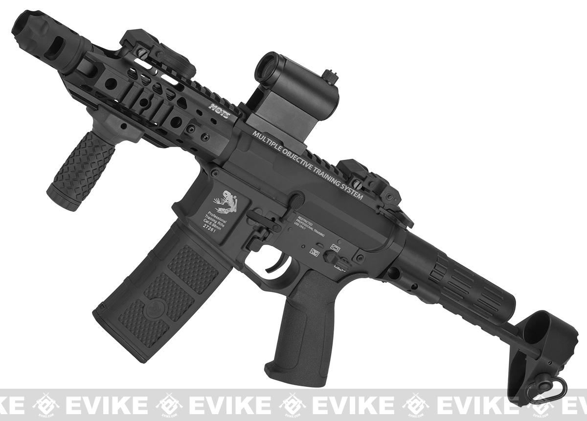 G&P MOTS M4 PDW Compact Airsoft AEG (Package: Black / Add Battery + Charger)