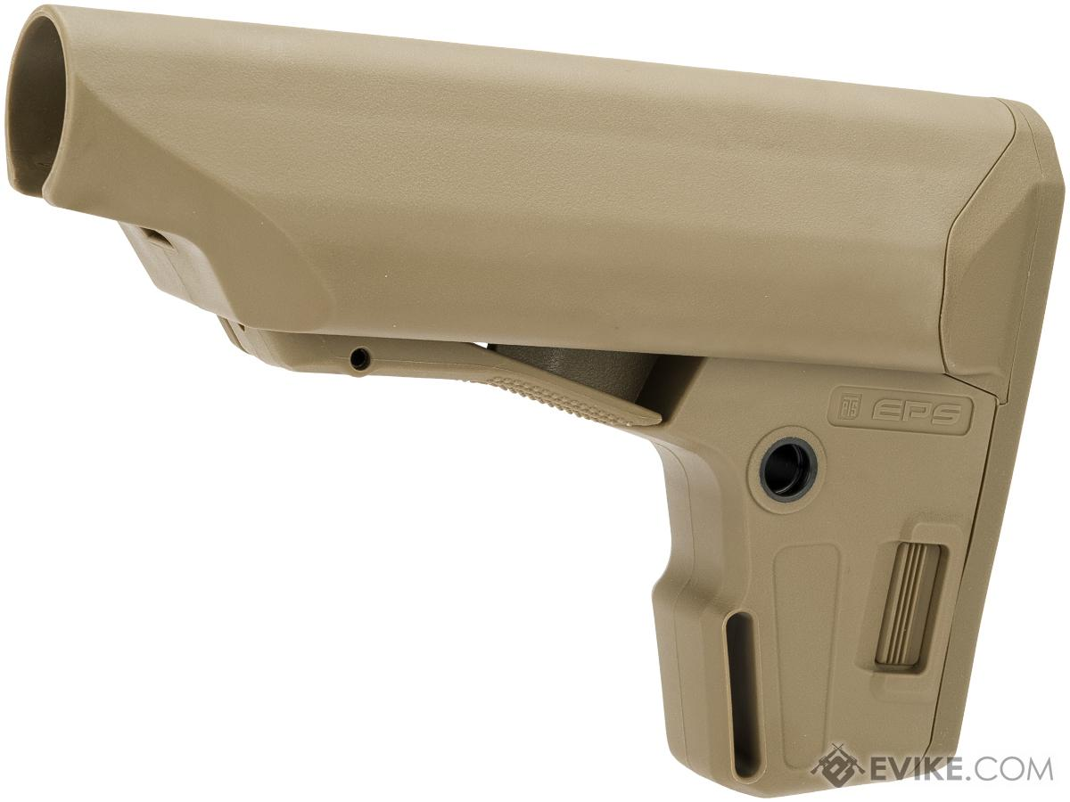 PTS Enhanced Polymer Stock (EPS) for Airsoft Rifles (Color: Dark Earth)