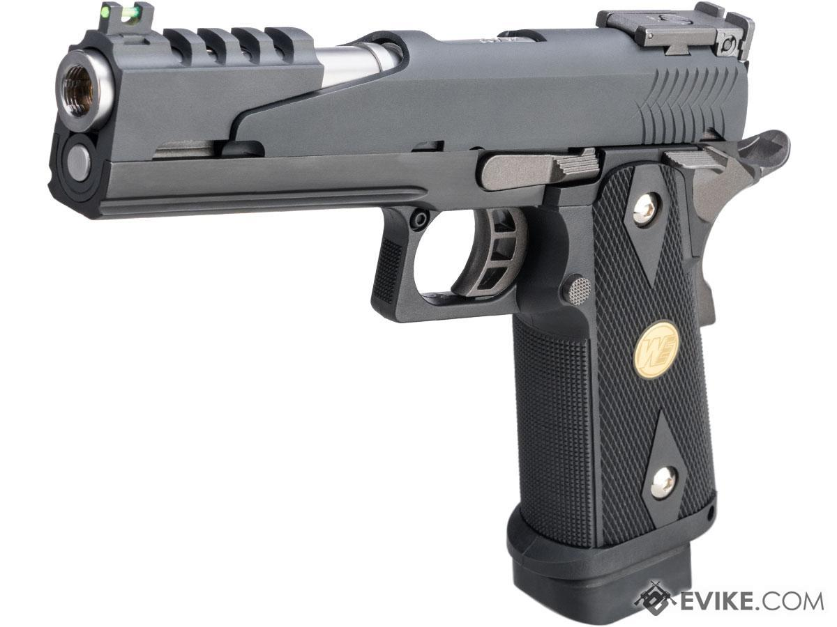 WE-Tech Full Auto Competition Series Hi-CAPA Gas Blowback Pistol (Model: Alpha / Black / Medallion Grip)