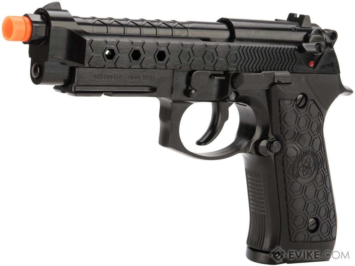 WE-Tech Hex M92A1 Full Metal Gas Blowback Airsoft Pistols (Color: Black)