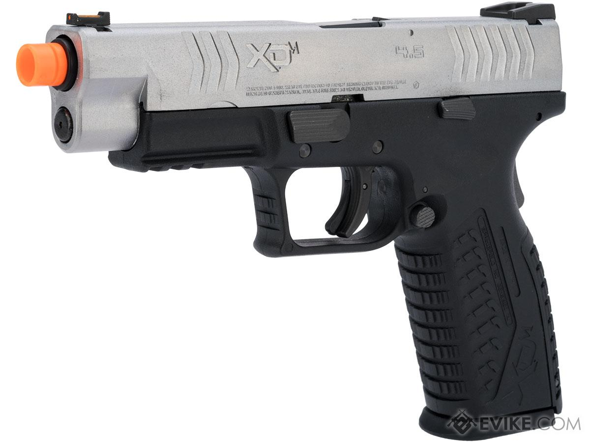 Springfield Armory Licensed XDM Gas Blowback Airsoft Training Pistol (Model: 4.5 Duty / 2-Tone Silver-Black)