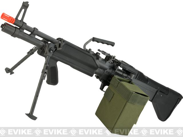 Pre-Order ETA November 2017 A&K Full Metal Mk43 Mod 0 / M60E4 Airsoft AEG Light Machine Gun