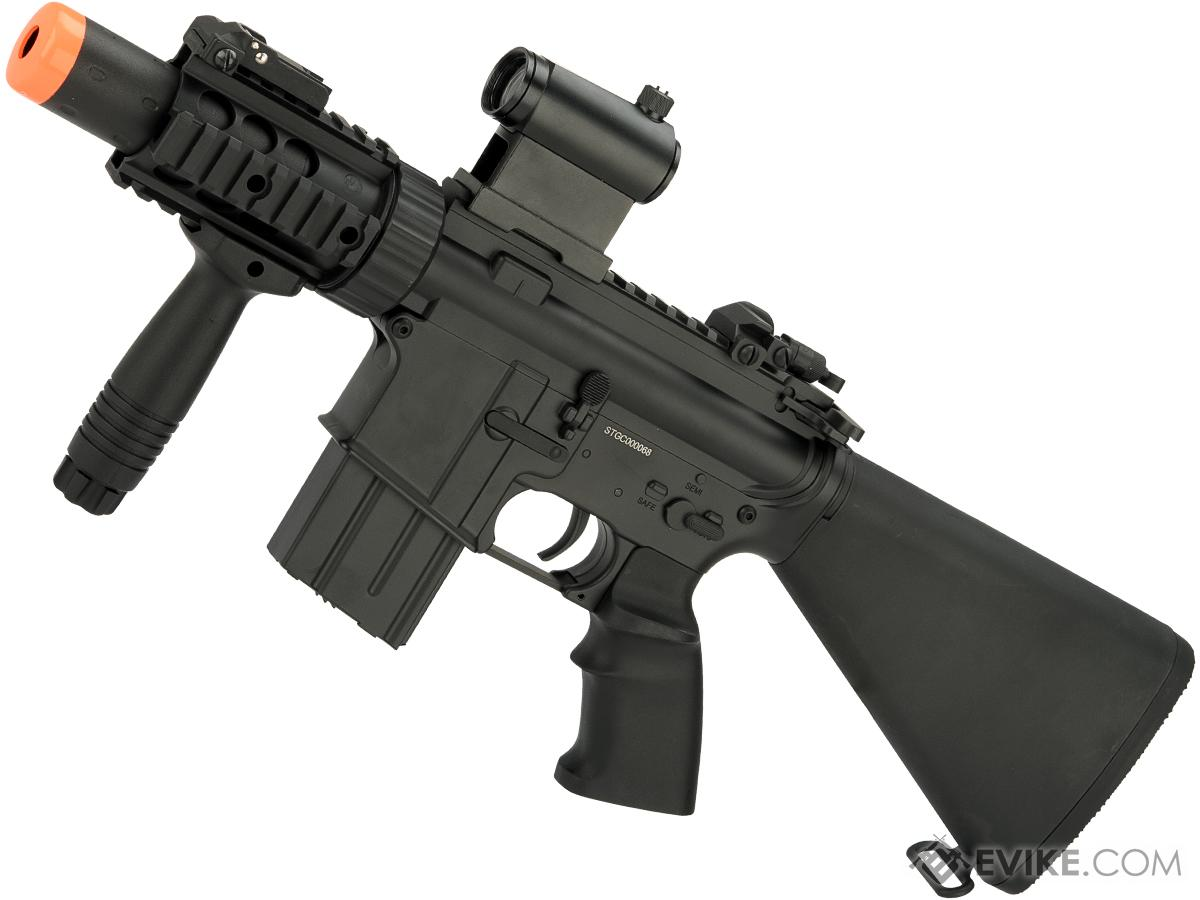 A&K NS15 Full Metal Lipo Ready M4 CQB Stubby Killer Airsoft AEG Rifle (Model: Charlie)